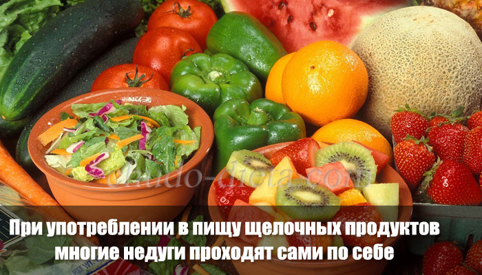 Кислотно щелочной баланс продуктов питания таблица