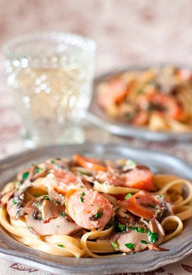 Паста сливочная с грибами рецепт